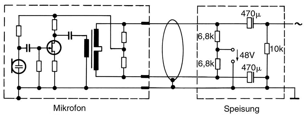 12 Elektrische Betriebstechnik von Kondensatormikrofonen